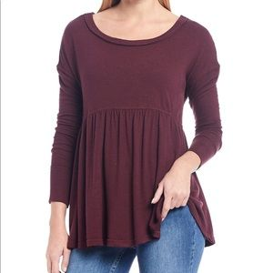 Free People Garnet Forever Your Girl Tunic T-shirt